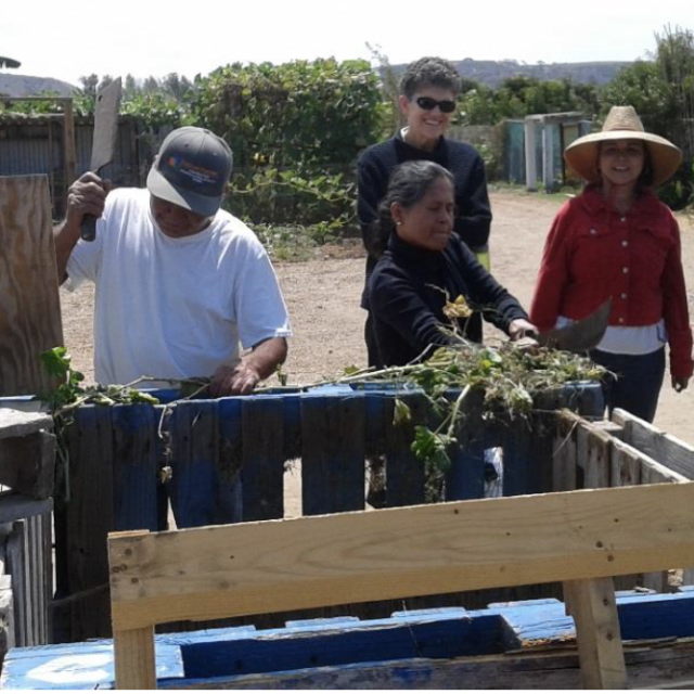 Farmers participate in a compost workshop in San Diego