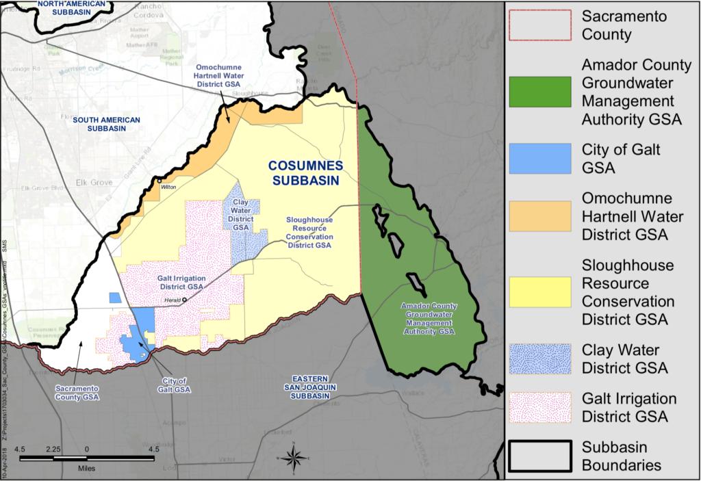 Cosumnes Subbasin map